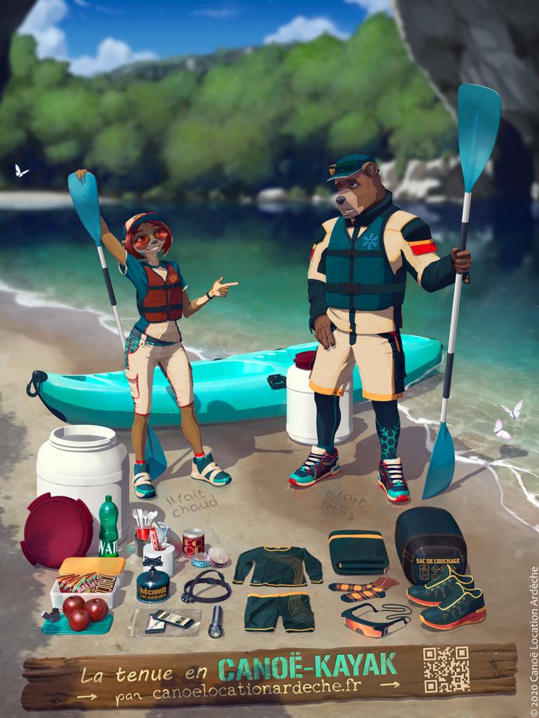 Bien s'équiper et ne rien oublier pour faire une descente en canoë kayak est primordial.