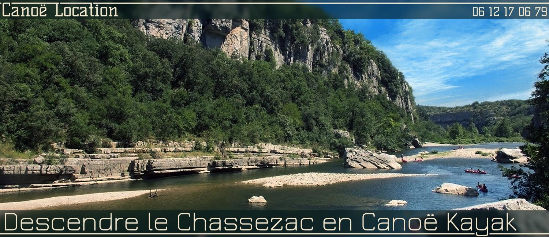 Louer un canoë kayak au départ des Vans pour descendre les gorges du Chassezac