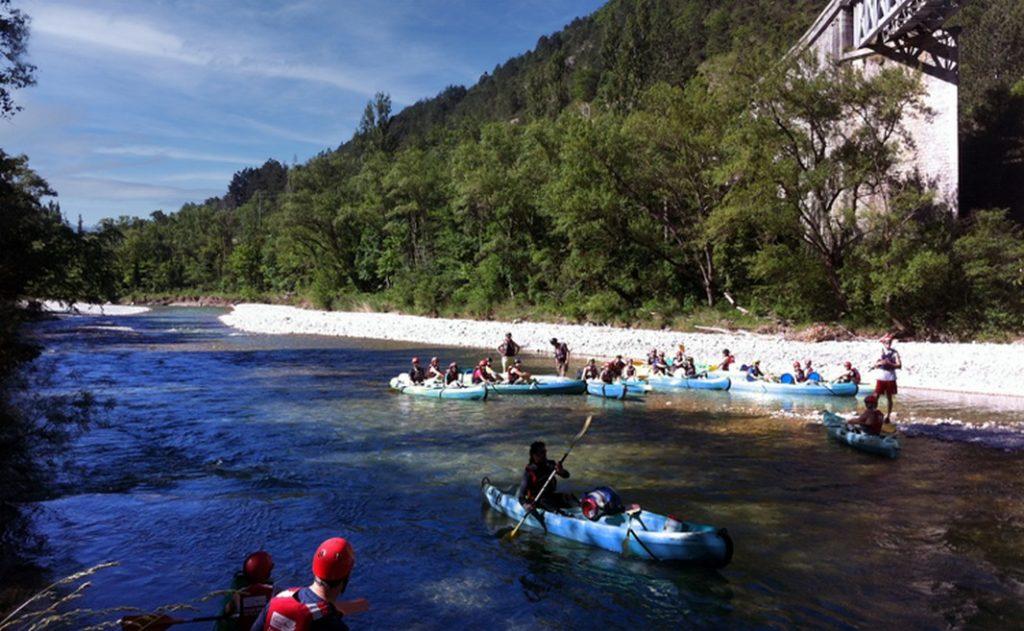 Canoë Kayak à Saillans sur la Drôme