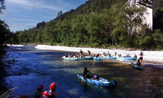Traversé des gorges de la Drôme en Canoë-Kayak
