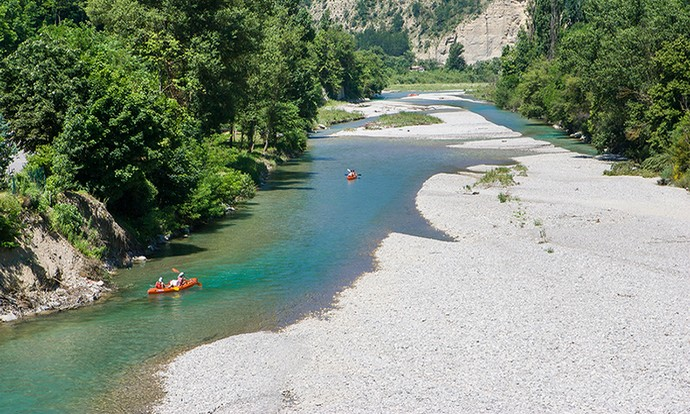 Canoë Kayak sur la Drôme entre Espenel et Saillans