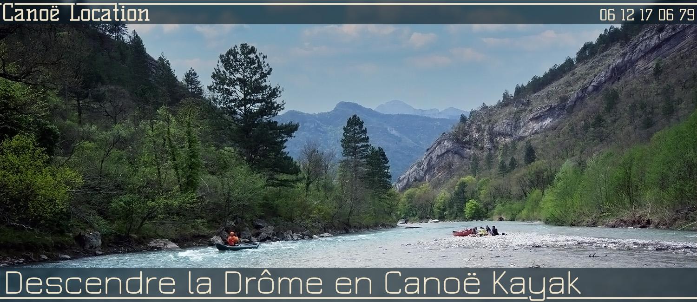 Ou louer un canoë kayak sur la Drôme