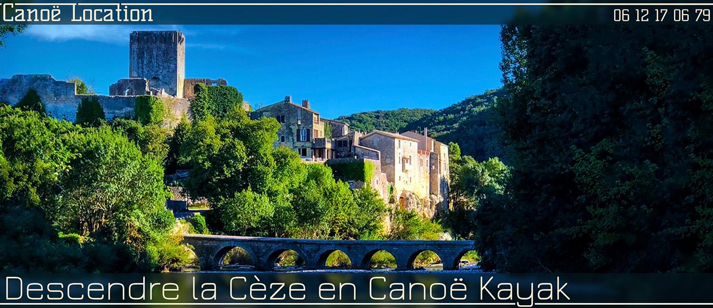 Descente en canoë kayak de la Cèze