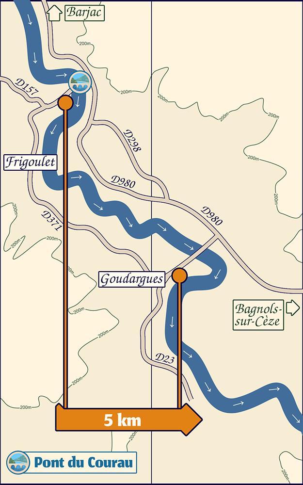 Descente de la Cèze 5km de Frigoulet à Goudargues