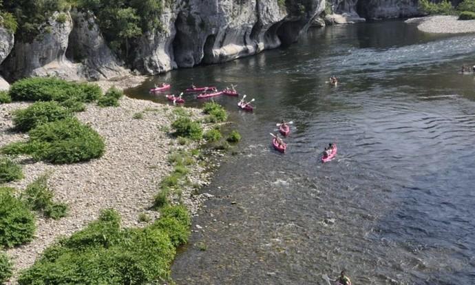 Descente en canoë kayak des Gorges du Chassezac
