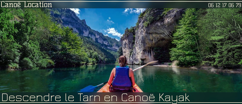 Location de canoë-kayak dans les Gorges du Tarn, l'entrée des Détroits.